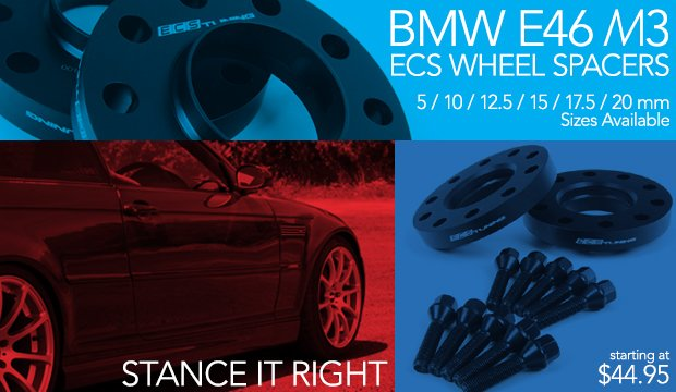 BMW E46 M3 ECS Wheel Spacers