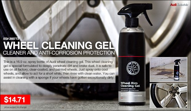 Audi Wheel Cleaning Gel