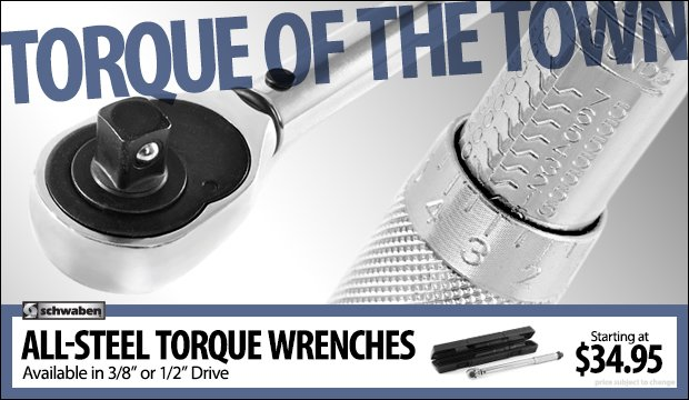 Schwaben All-Steel Torque Wrenches - 1/2