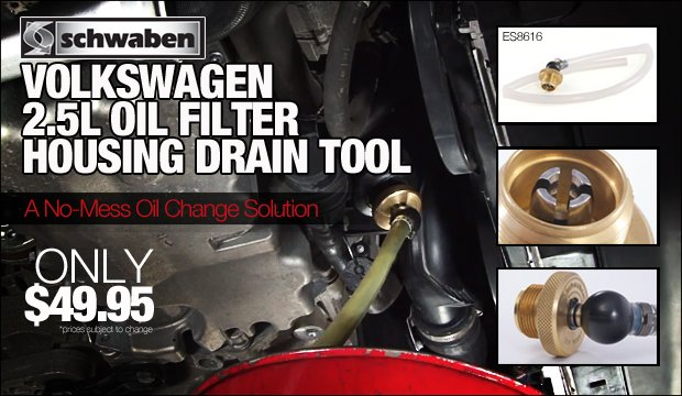 Volkswagen 2.5 Oil Filter Housing Drain Tool