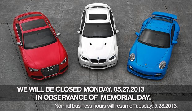 Closed - Memorial Day 2013