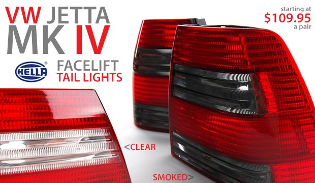 VW Jetta Mk IV Hella Tail Lights