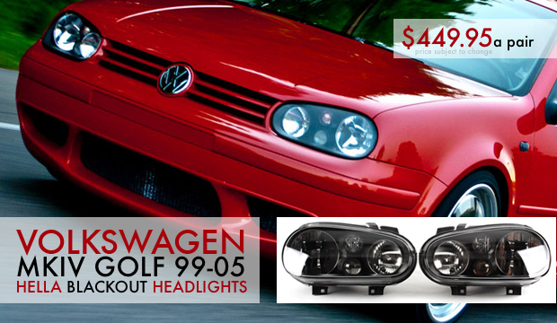 VW MKIV Golf Hella Blackout Headlights