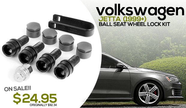 VW Jetta Ball Seat Wheel Locks