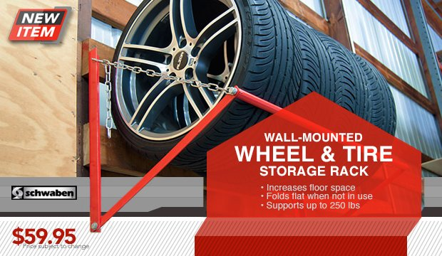 Wall Mounted Wheel Storage Rack From Schwaben