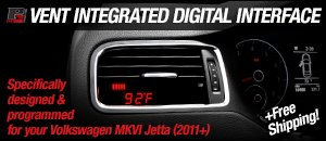 P3 Cars Vent Integrated Digital Interface - MKVI Jetta