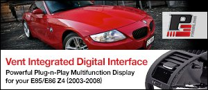 P3 Cars Vent Integrated Digital Interface - BMW Z4