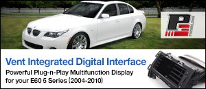 P3 Cars Vent Integrated Digital Interface - BMW E60