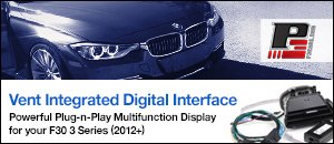 P3 Cars Vent Integrated Digital Interface - BMW F30