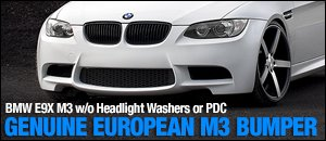 BMW E9X M3 Genuine European Bumper