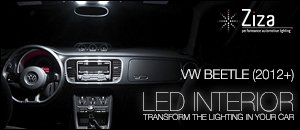 Volkswagen 2012 Beetle LED Interior Lighting
