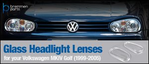 Volkswagen MKIV Golf Replacement Glass Headlight Lenses