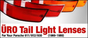 Porsche 911/912/930 1969-1989 Tail Light Lenses