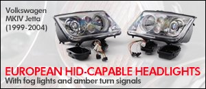 Volkswagen MKIV Jetta HID-Capable Headlights