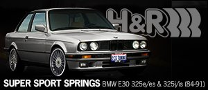 HR Super Sport Spring Set - BMW E30 325e/es  325i/is