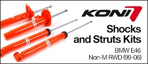 BMW E46 Non-M RWD Koni Shocks  Struts Kits