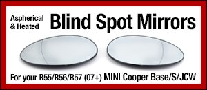 R55/R56/R57 MINI Aspherical  Heated Blind Spot Mirrors