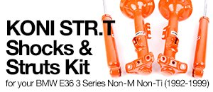 BMW E36 Non-M Non-Ti Koni STR.T Shocks  Struts Kits