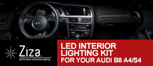 Ziza LED Interior Lighting Kit for Audi B8 A4/S4