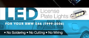 BMW E46 LED License Plate Light Kit