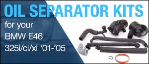 BMW E46 325 Oil Separator Kits