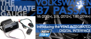 VW B7 Passat P3Cars Digital Vent Gauge