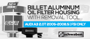 Audi A3 2.0t FSI Billet Aluminum Oil Filter Housing