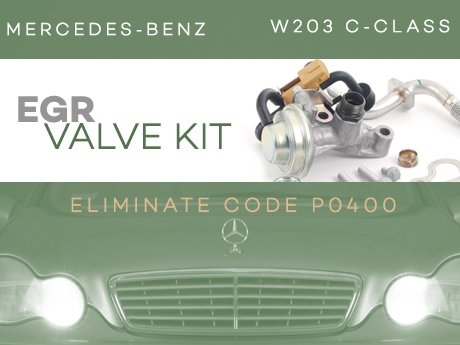 Ecs news mercedes benz w203 c class egr valve kit for Mercedes benz c240 tune up