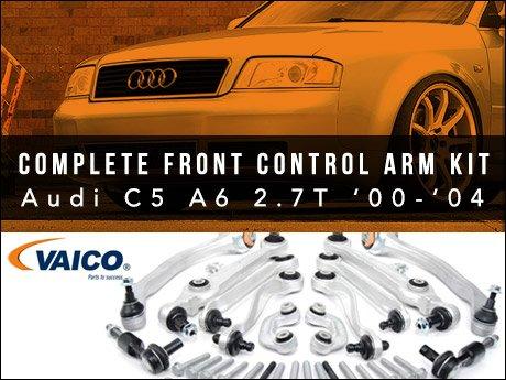 ecs news audi c5 a6 2 7t complete front control arm kit
