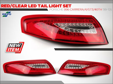 ecs tuning depo led tail lights for 996