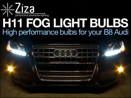 Audi B8 A4 Quattro 2.0T ECS News Ziza H11 Fog Light Bulbs